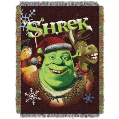 jcpenney.com | Shrek Holiday Tapestry Throw