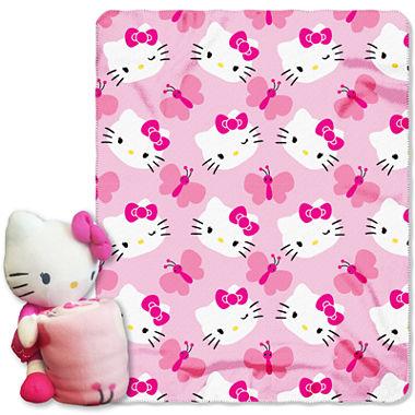 Hello Kitty Pillow And Throw Blanket Set : Hello Kitty Throw and Pillow Set - JCPenney