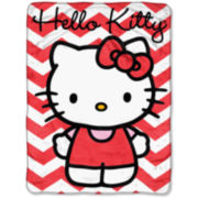 Hello Kitty Chevron Throw