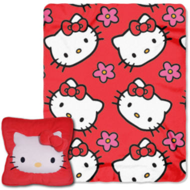 jcpenney.com | Hello Kitty Flowers Plush Pillow and Throw Set