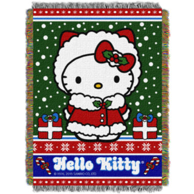 jcpenney.com | Hello Kitty Holiday Tapestry Throw
