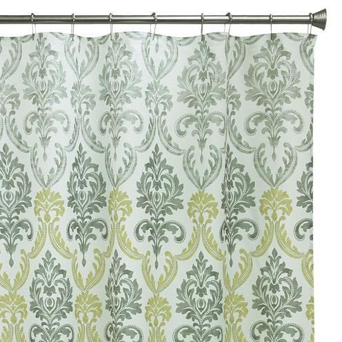 Bacova Portico Damask Shower Curtain