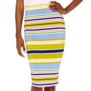 Liz Claiborne® Stripe Midi Skirt - Tall