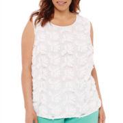 Liz Claiborne® Sleeveless Woven Blouse - Plus
