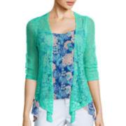 Arizona 3/4-Sleeve Knit Cardigan