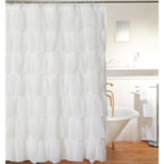 Layered Voile Shower Curtain