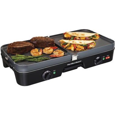 jcpenney.com | Hamilton Beach® Dual Zone 3-in-1 Griddle/Grill