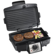 Hamilton Beach® Easy-Clean Indoor Grill + Removable Grids