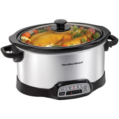 jcpenney.com | Hamilton Beach® 6-qt. Programmable Oval Slow Cooker