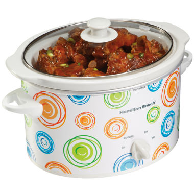jcpenney.com | Hamilton Beach® Swirl 3-qt. Oval Slow Cooker