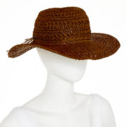 Floppy Crochet Straw Hat