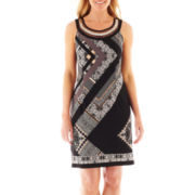 Studio 1 Sleeveless Scarf Print Dress