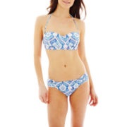 Ninety Six Degrees Medallion Print Bandeau Swim Top or Hipster Bottoms