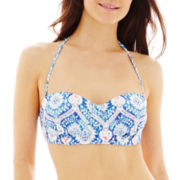 Ninety Six Degrees Medallion Print Pushup Bandeau Swim Top