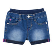 Embroidered Butterfly Shorts - Girls 12m-4y