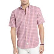 IZOD® Short-Sleeve Tonal Plaid Shirt