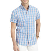 IZOD Short-Sleeve Small Plaid Shirt