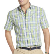 IZOD Short-Sleeve Large Plaid Shirt