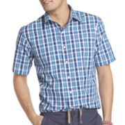 IZOD Short-Sleeve Checked Woven Shirt