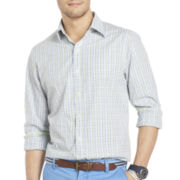 IZOD Long-Sleeve Slim-Fit Checked Shirt