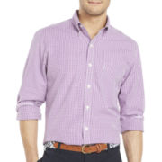 IZOD Long-Sleeve Slim-Fit Mini-Checked Shirt
