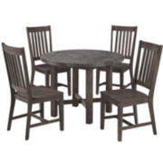 Concrete Chic 5-pc. Wood Outdoor Dining Set