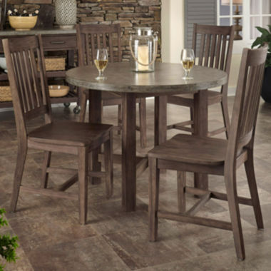 jcpenney.com | Concrete Chic 5-pc. Wood Outdoor Dining Set
