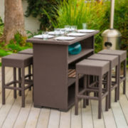 Trinidad 7-pc. Wicker Outdoor Bar Set