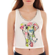 Arizona Embellished Cropped Graphic Tank Top
