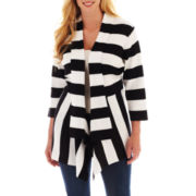 St. John's Bay Open-Front Flyaway Cardigan - Plus