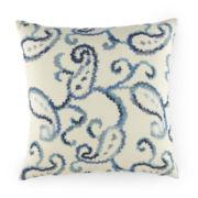 Indoor/Outdoor Paisley Decorative Pillow