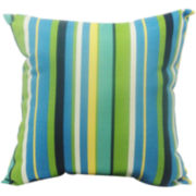 Topanga Stripe Lagoon Decorative Pillow