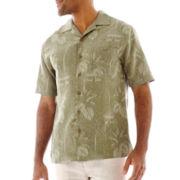 Island Shores™ Short-Sleeve Silk Jaquard Shirt