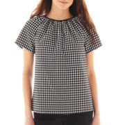Worthington® Short-Sleeve Jacquard Top
