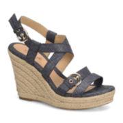 Eurosoft™ Persia Slingback Wedge Sandals