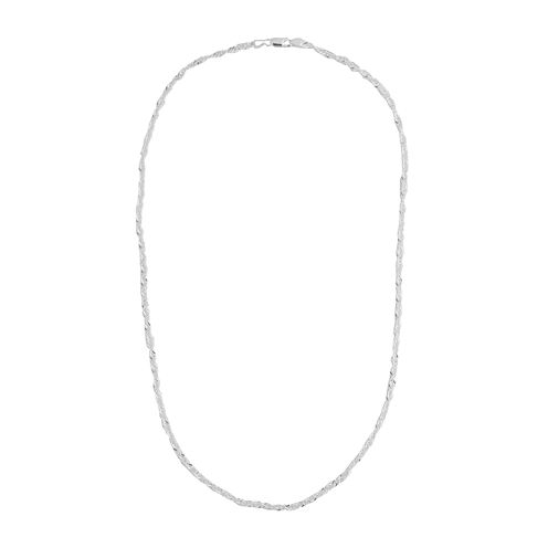 """Silver Reflections™ 24"""" Singapore Chain Necklace"""