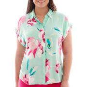 Stylus™ Short-Sleeve Drop-Shoulder Shirt - Plus