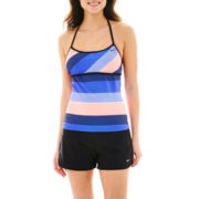 Nike® Racerback Tankini Swim Top or Core Swim Shorts