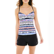 Nike® V-Back Tankini Swim Top or Core Swim Shorts