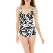 Azul by Maxine of Hollywood Print 1-Piece Swimsuit