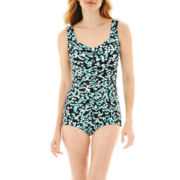 Azul by Maxine of Hollywood Shirred 1-Piece Swimsuit