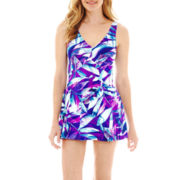 Azul by Maxine of Hollywood Print Swimdress