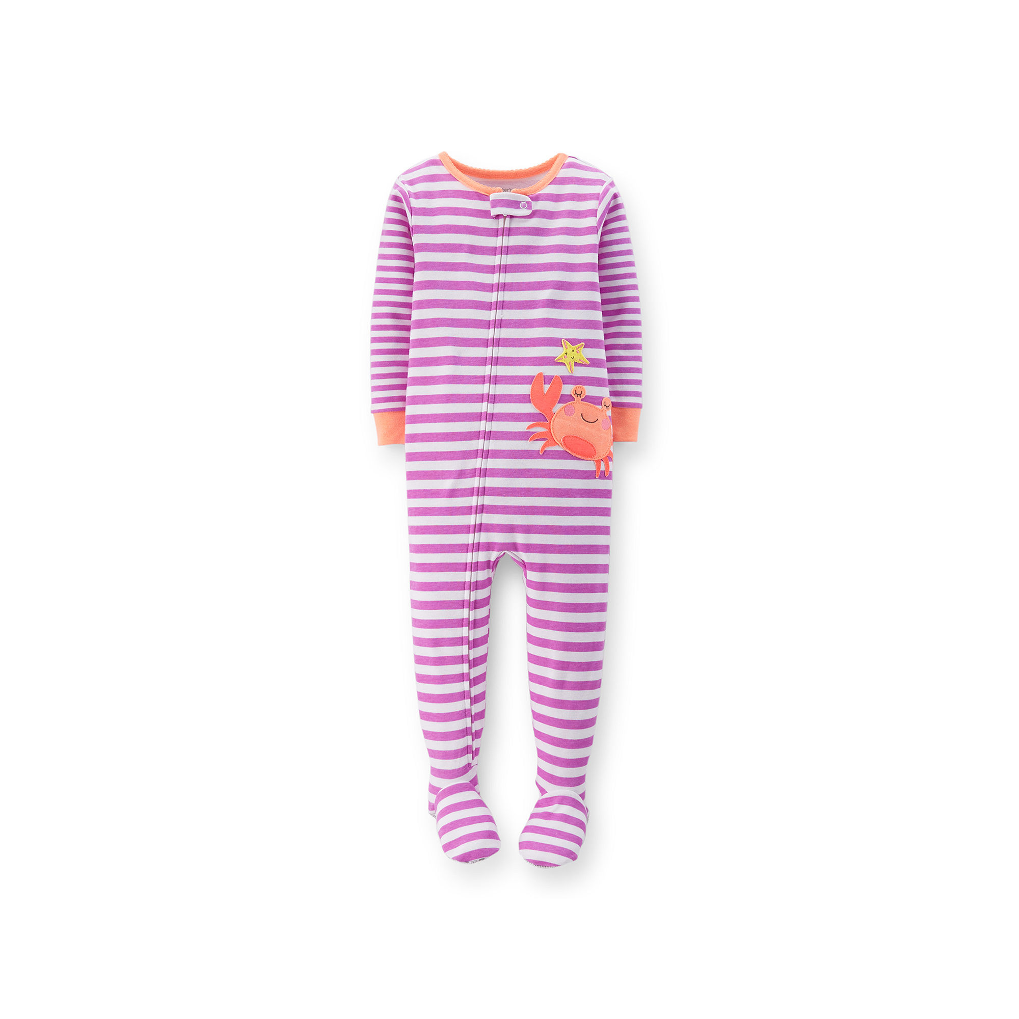 f00dd2e65 UPC 888510433590 - Carters Striped Crab Footed Pajamas - Baby Girl ...