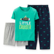 Carter's® 3-pc. Submarine Pajama Set - Baby Boys 12-24m