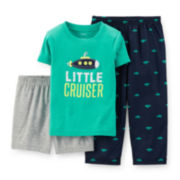 Carter's® 3-pc. Submarine Pajama Set - Toddler Boys 2t-5t