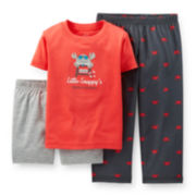 Carter's® 3-pc. Crab Pajama Set - Toddler Boys 2t-5t