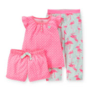 Carter's® 3-pc. Flamingo Pajama Set - Baby Girls 12-24m