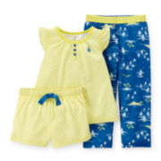Carter's® 3-pc. Sailboat Pajama Set – Baby Girls 12-24m