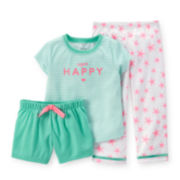 Carter's® 3-pc. Happy Starfish Pajama Set - Toddler Girls 2t-5t