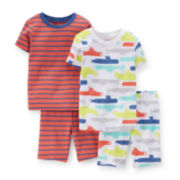 Carter's® 4-pc. Striped and Submarine Pajama Set - Toddler Boys 2t-5t